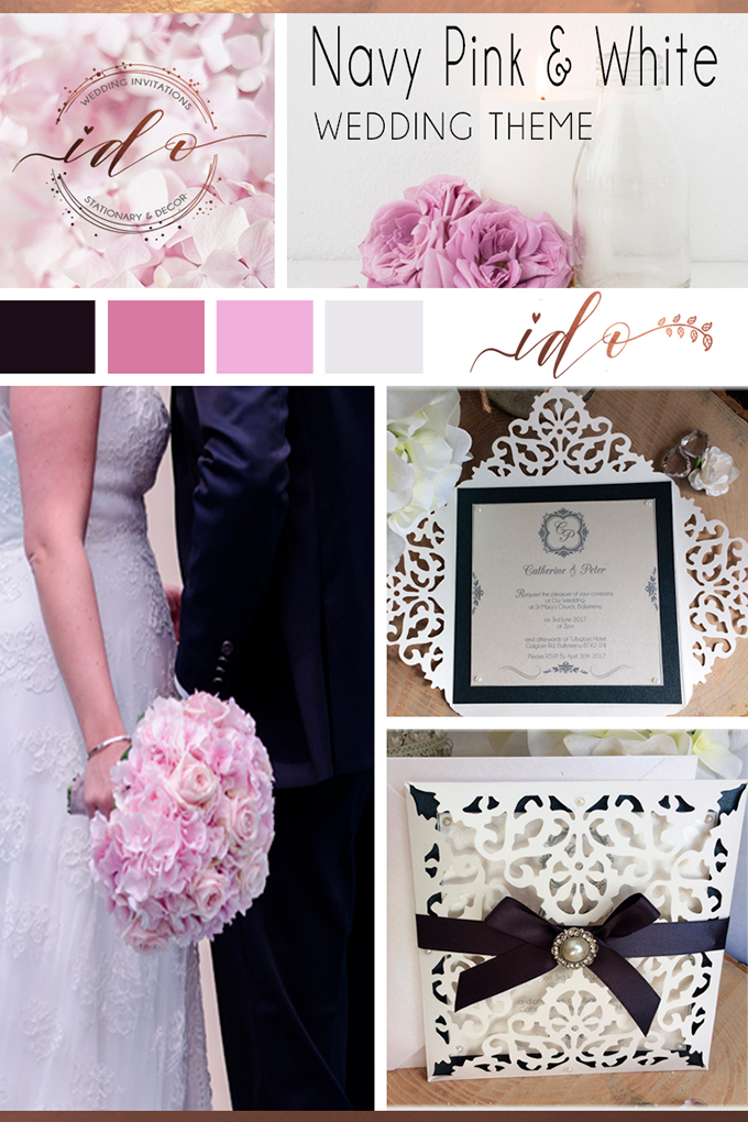 Navy-Pink-&-White-Wedding-Theme