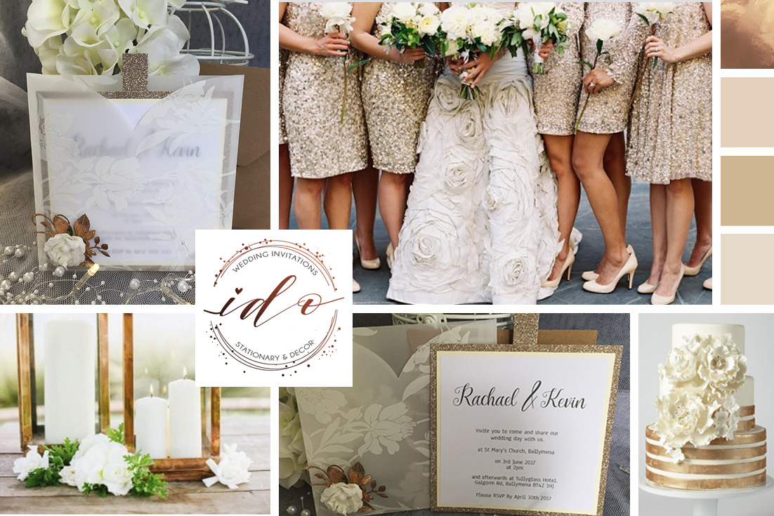 Ivory & Copper Wedding