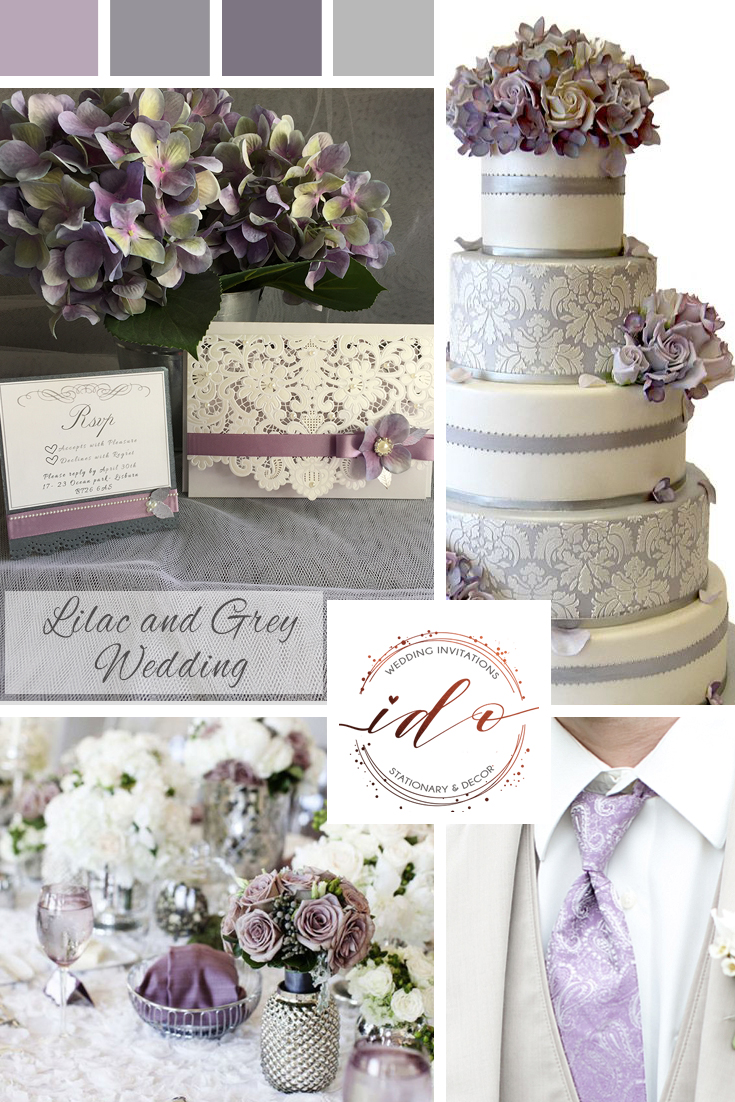 Lilac and Grey Wedding Inspiration