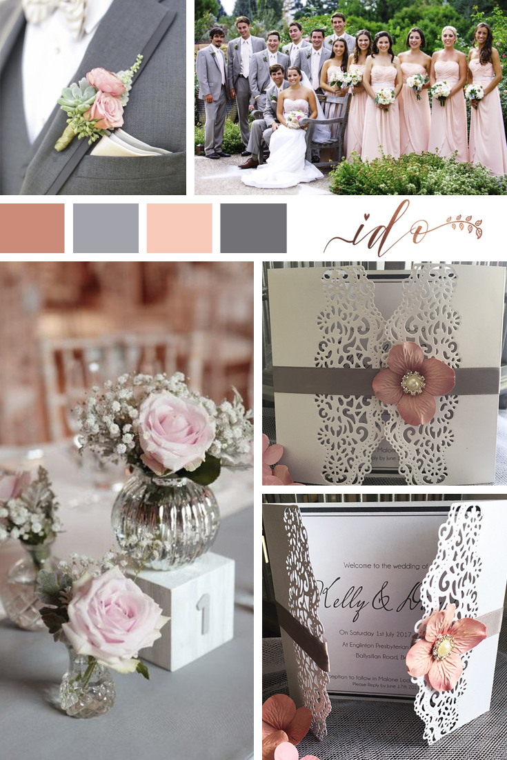 Pink & Grey Wedding.