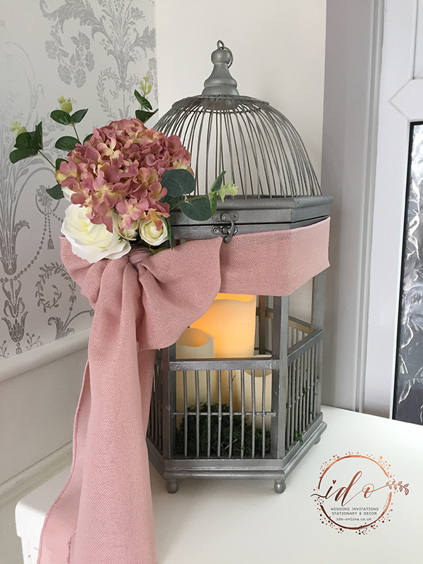 Birdcage planter Wedding Table Centrepiece