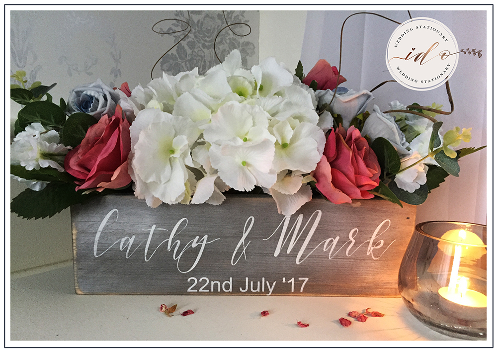 Watercolour floral Personalised Flower Crate