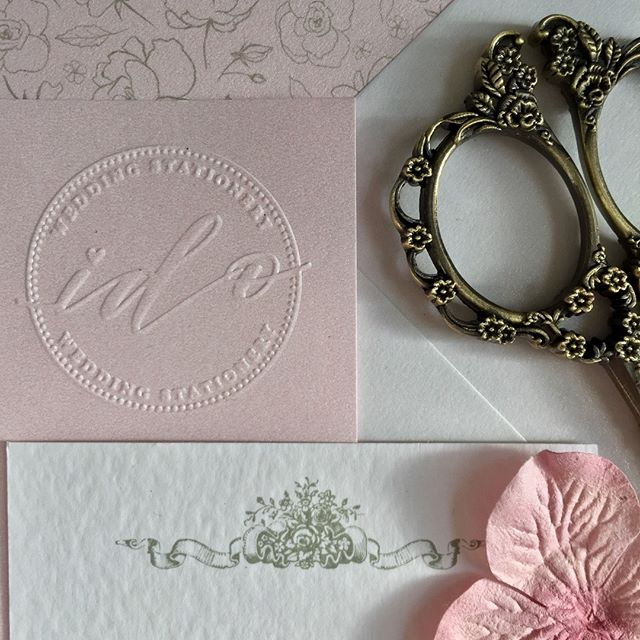 Send your Wedding Invitations with that 'extra special' touch of personalisation. I can create your unique embossed logo using your initials or personal details and add it to your Stationery. Message me for details x