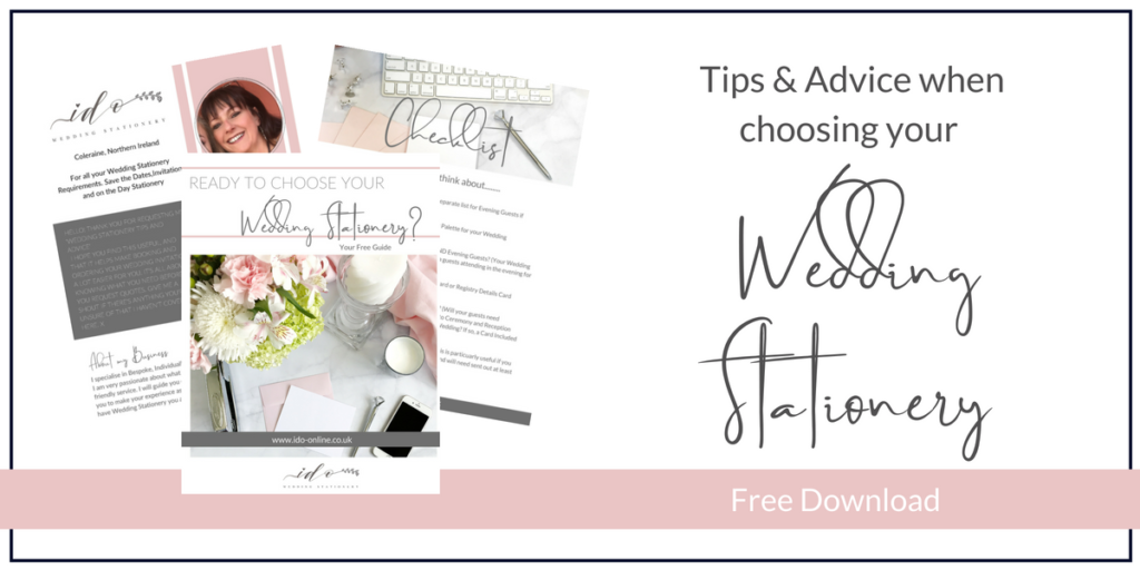Tips and Advice when Choosing your Wedding Stationery