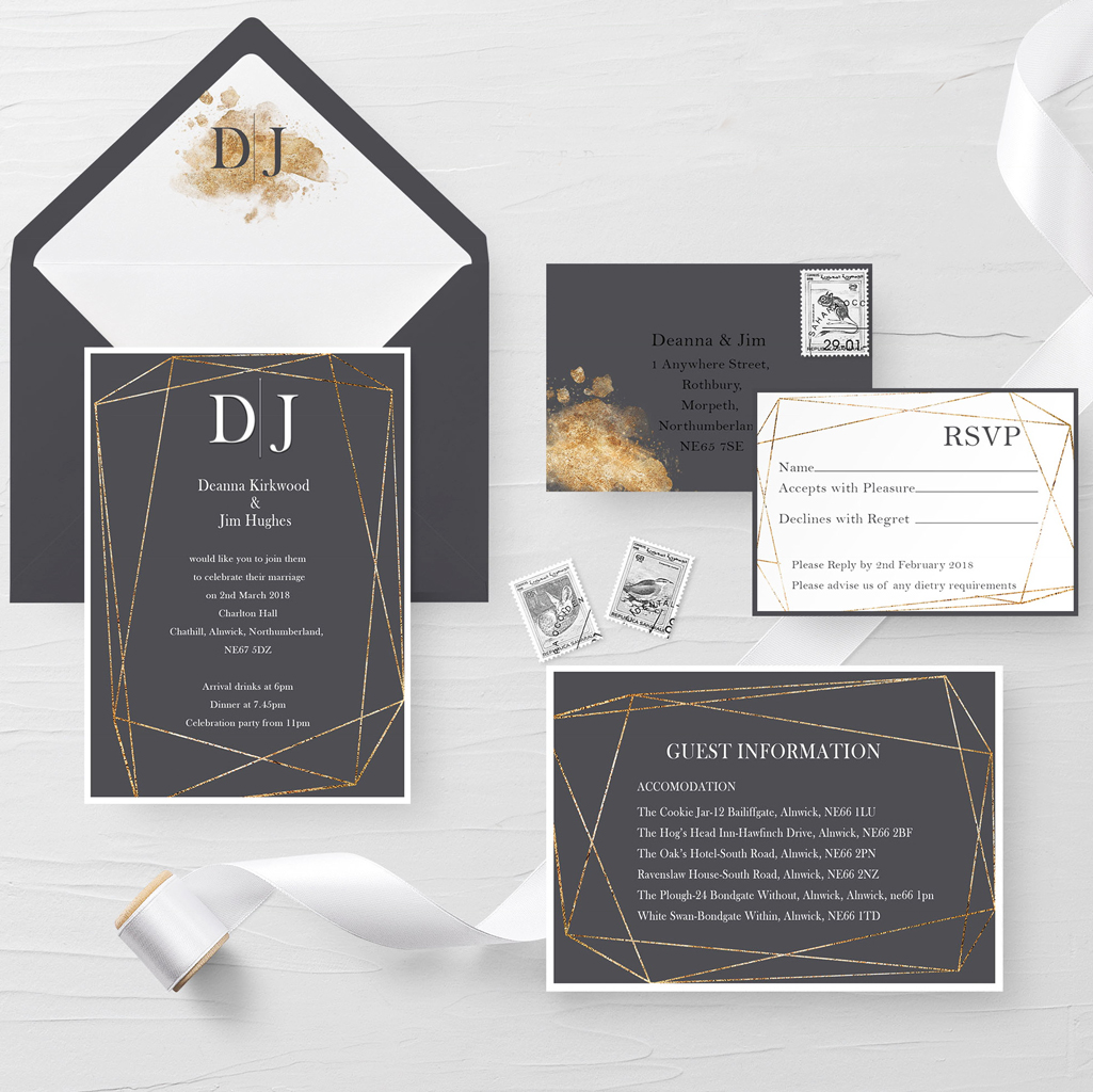 Deanna Wedding Invitation Suite