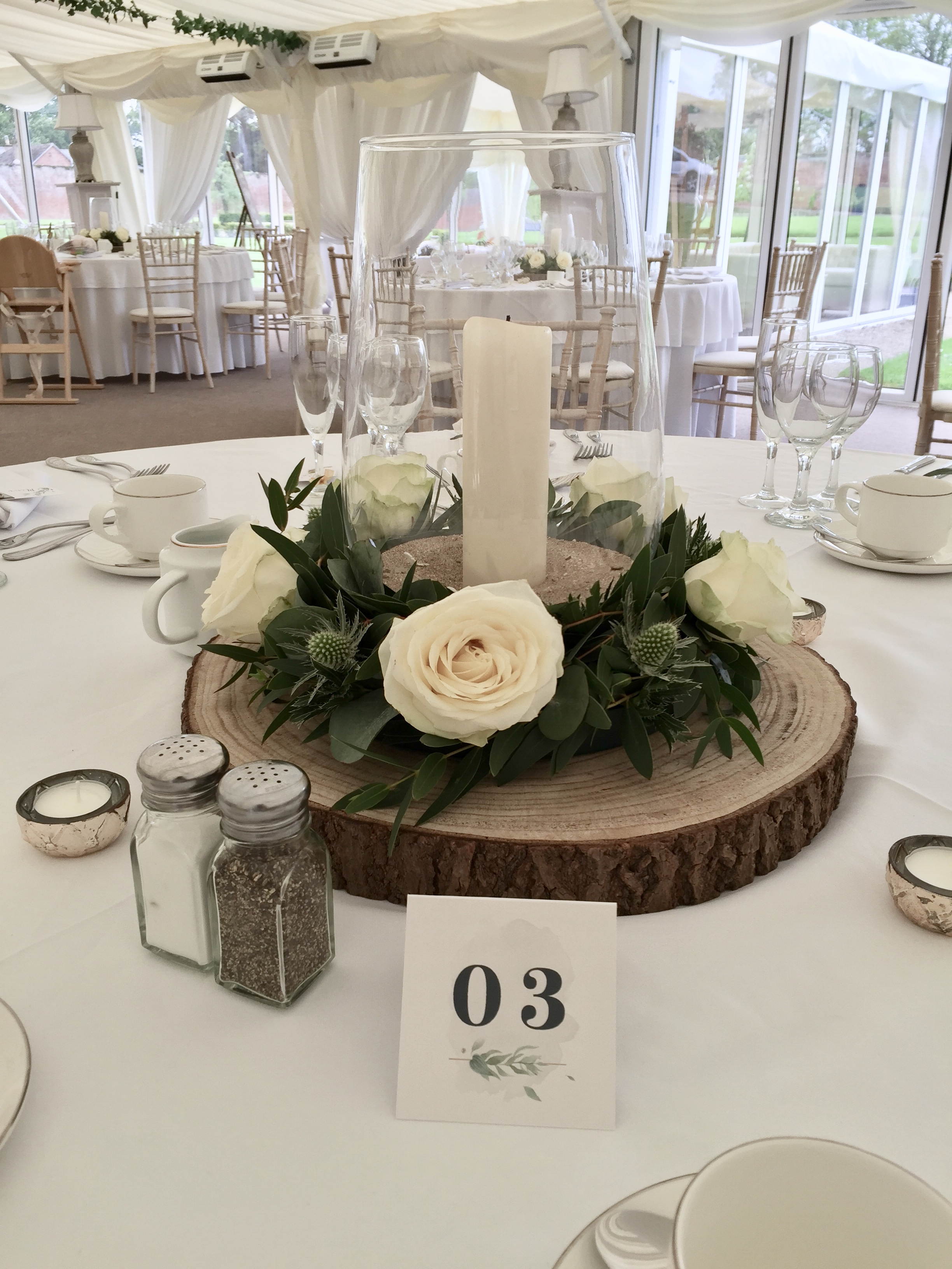 Gold with Foliage Wedding Table numbers