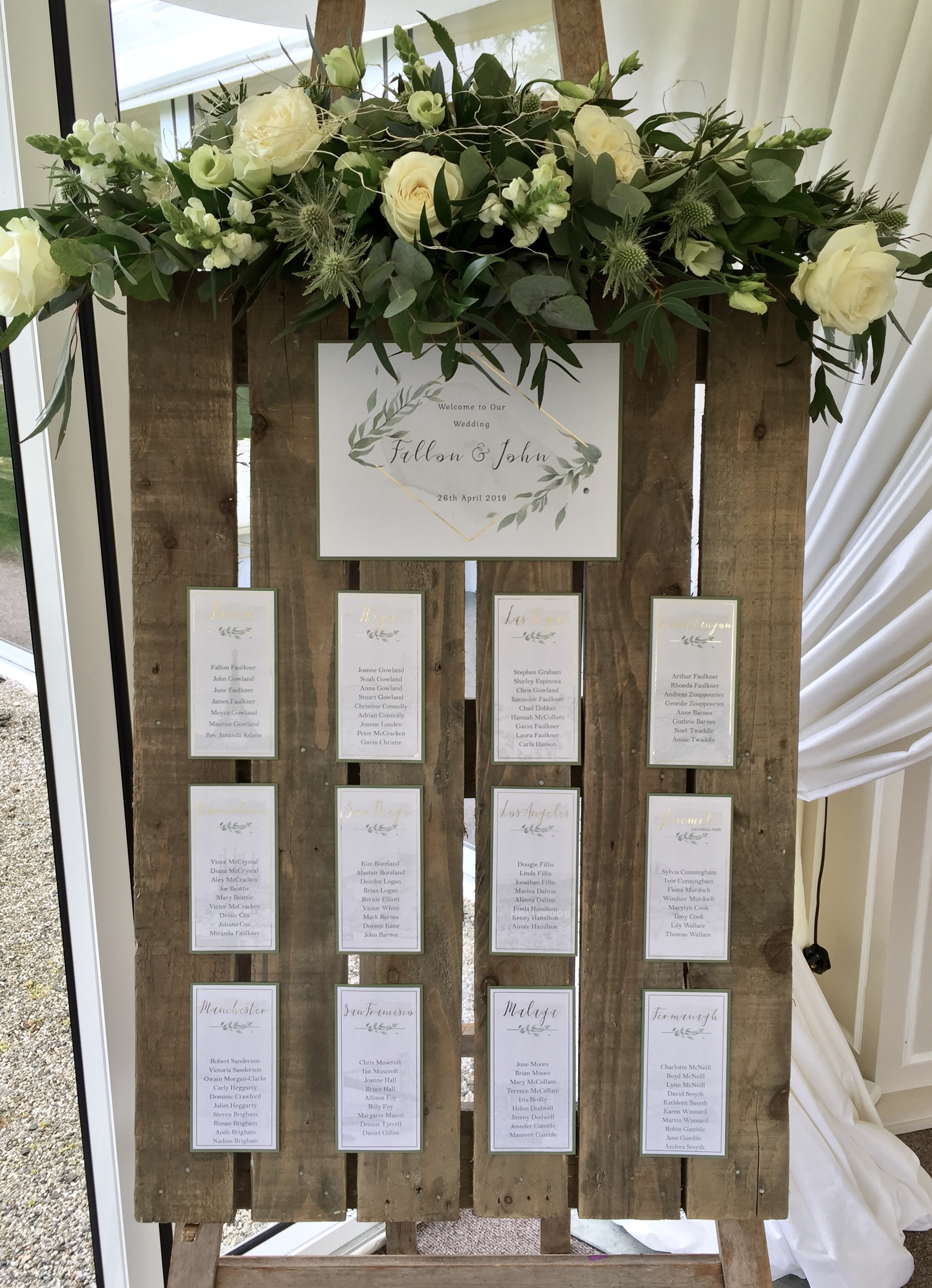Fallon- Gold and Foliage Wedding Table Plan
