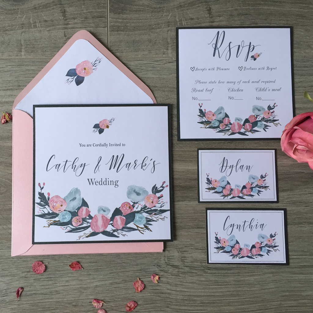 Cathy Wedding Invitation Suite