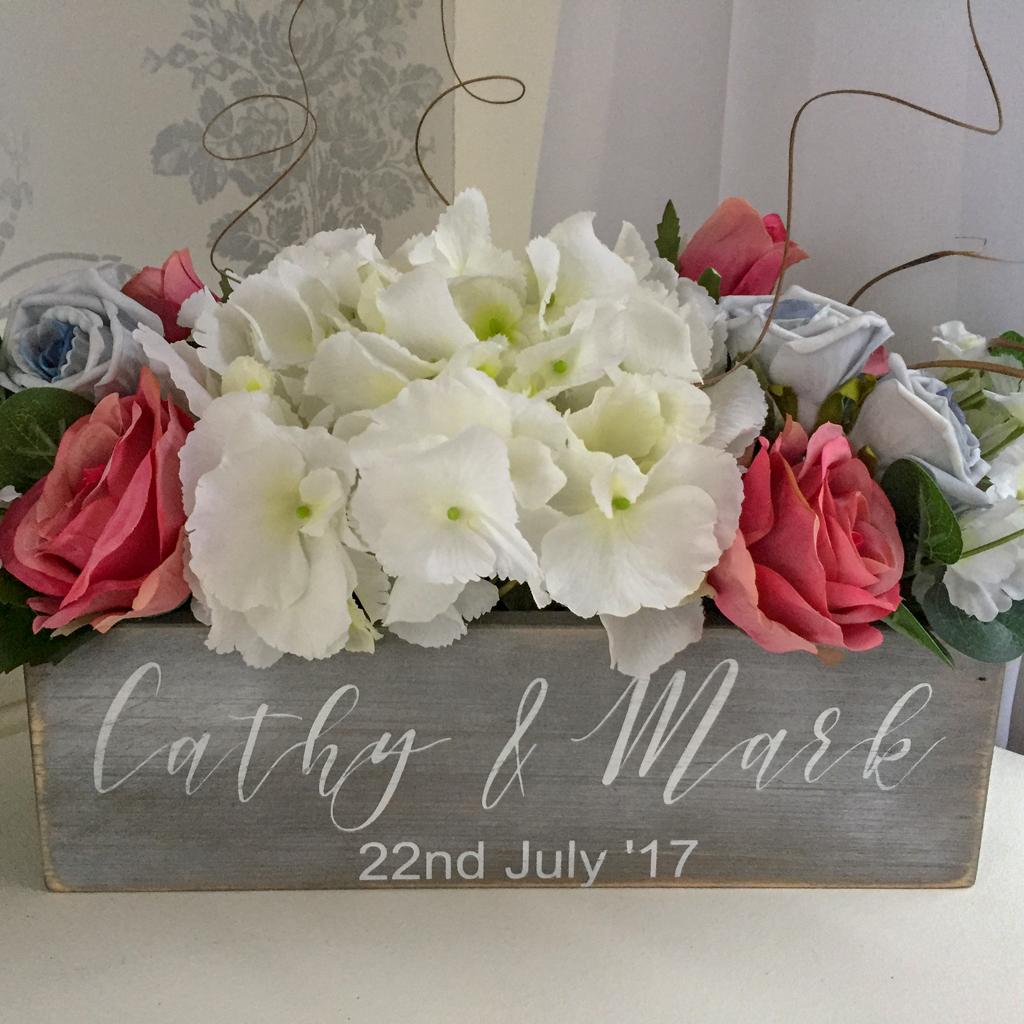 Cathy Wedding Personalised Flower box