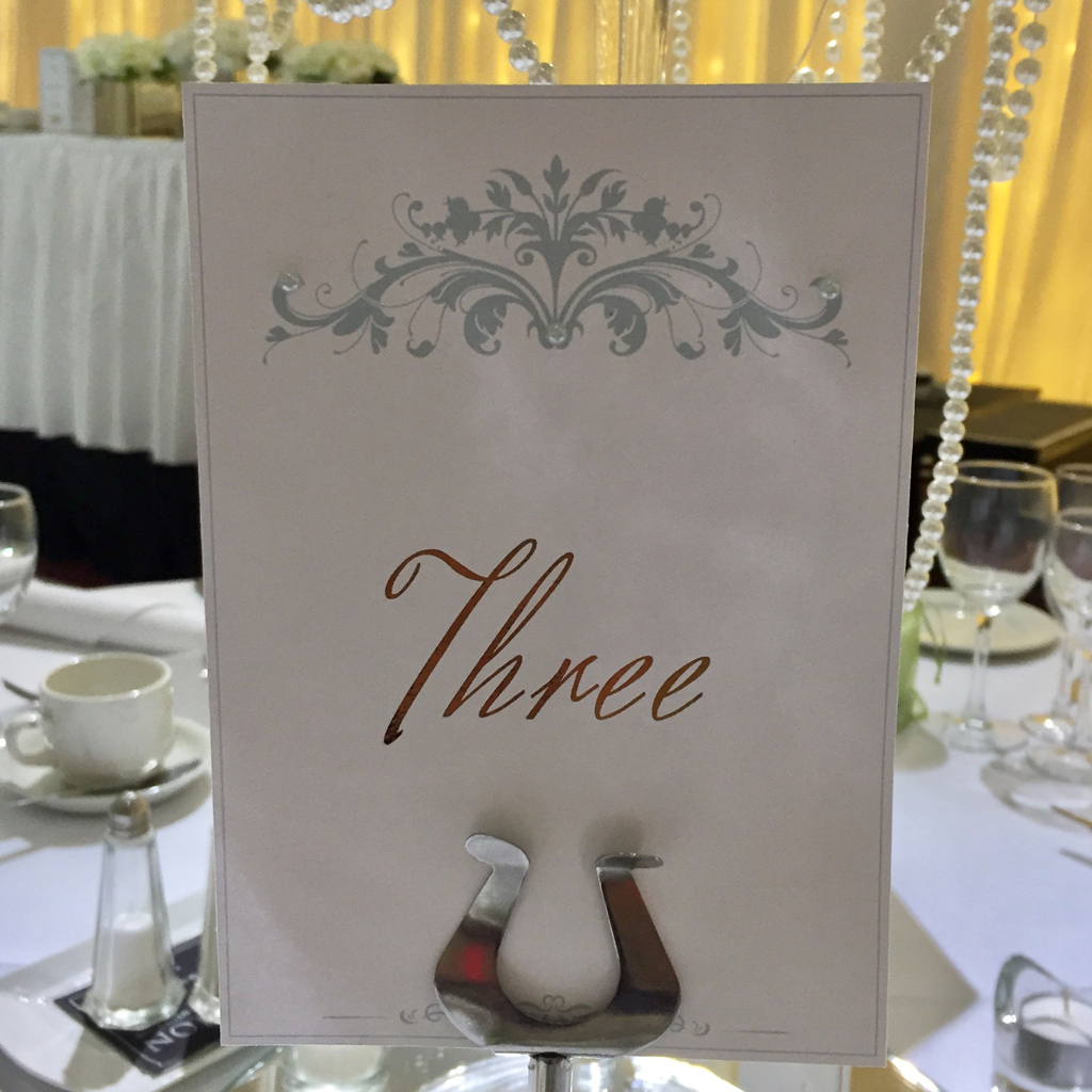 Gemma Wedding Table Numbers