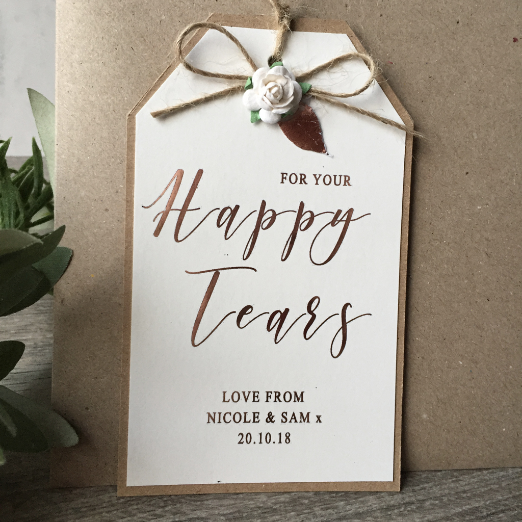 For your Happy Tears-Wedding