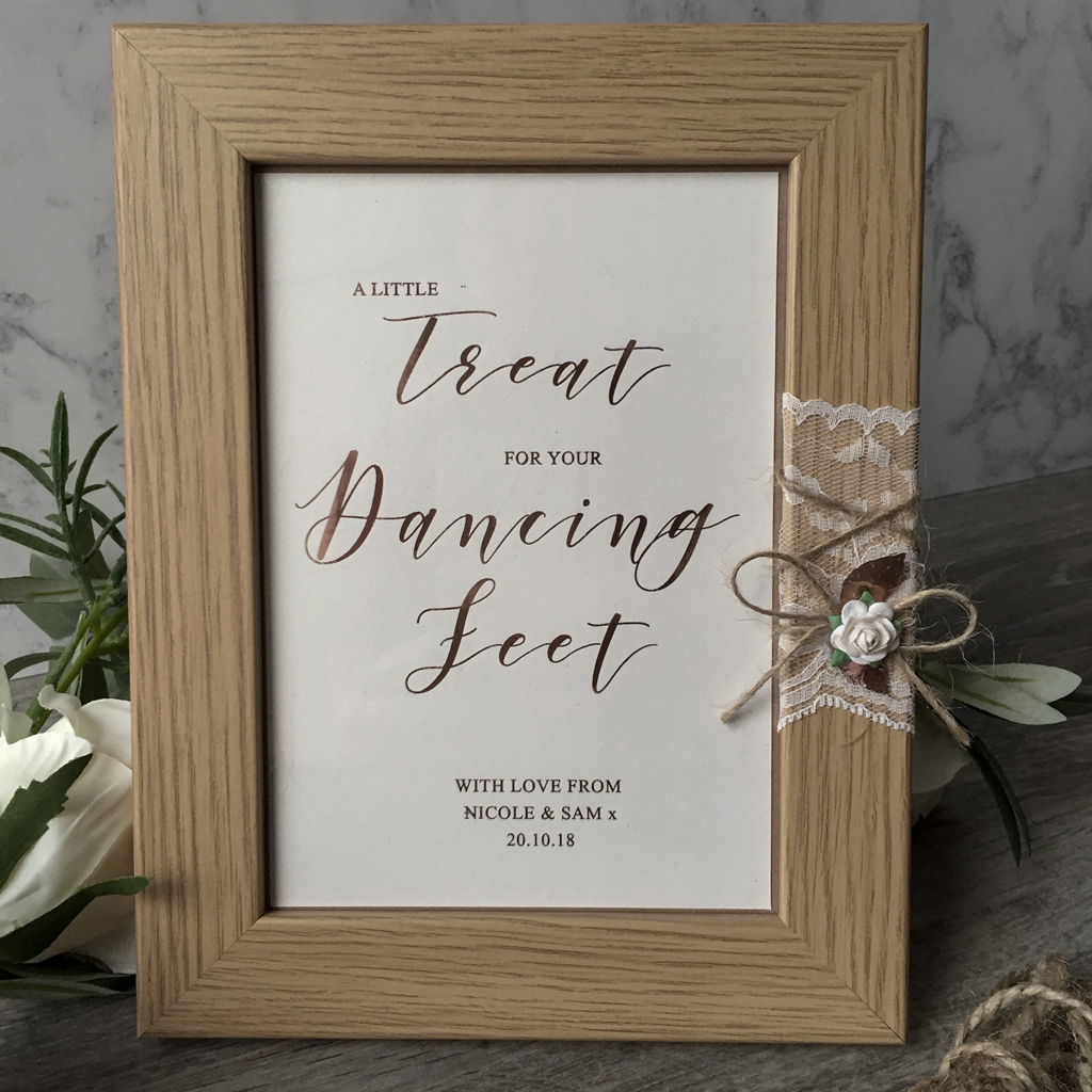 For your Dancing Feet-Wedding