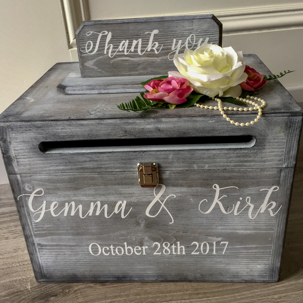 Gemma Wedding Personalised Post Box