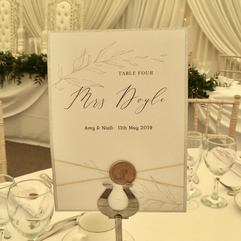 Wax Seal Table Numbers