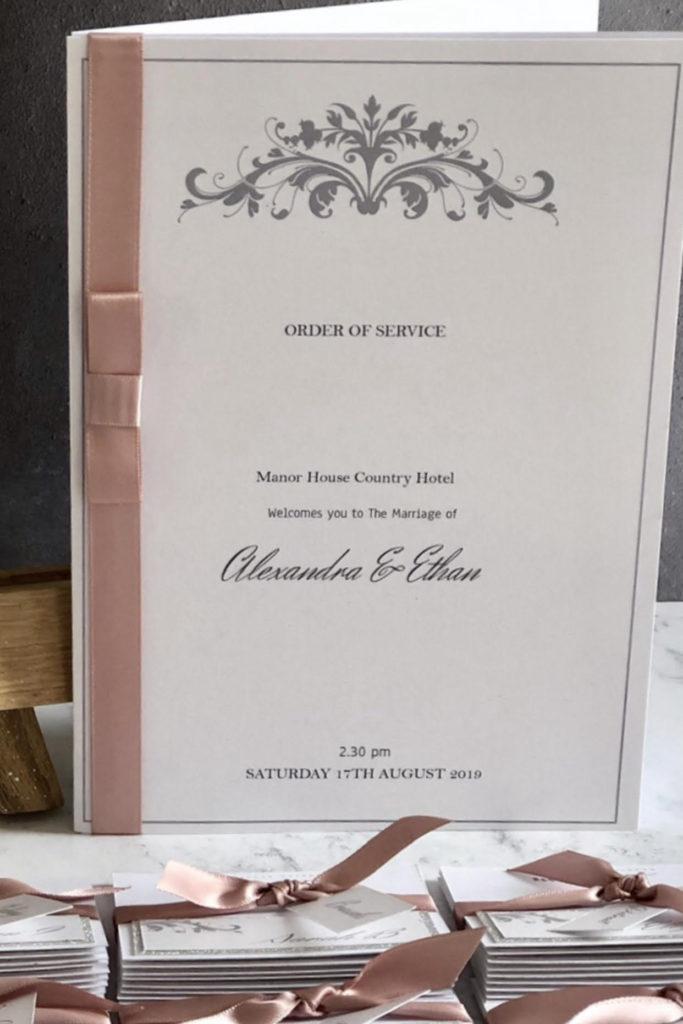 Elegant Order Of Service