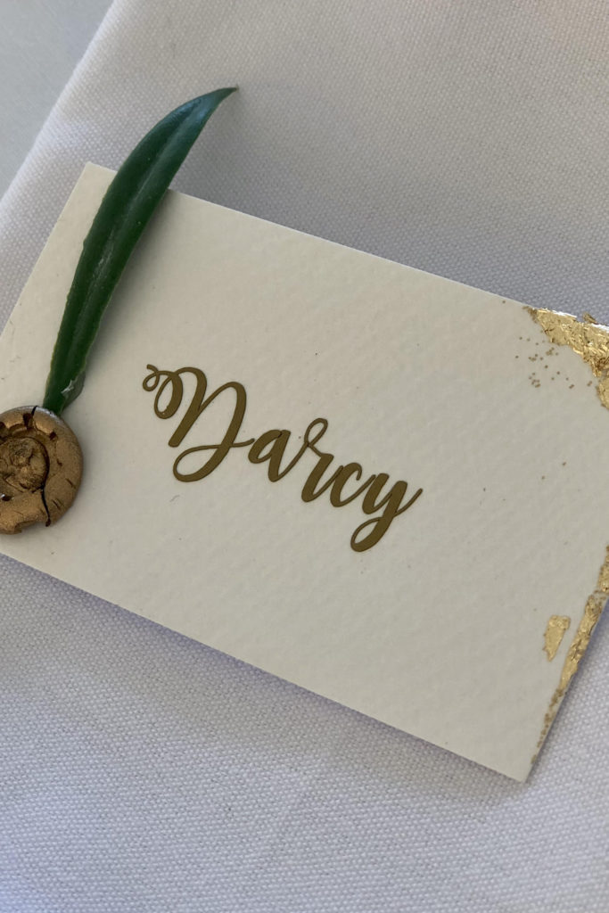 Gold leaf guest name