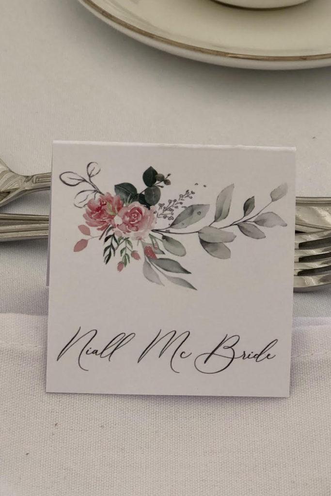 Pink floral design Guest Name