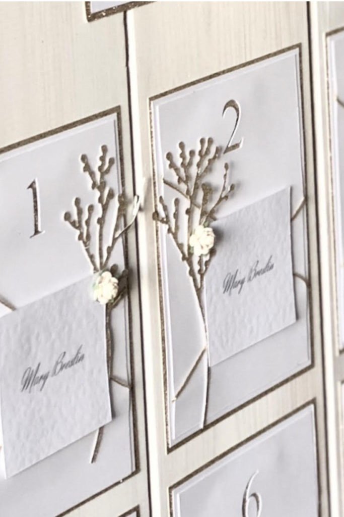 Elegant Gold and Ivory Table Plan