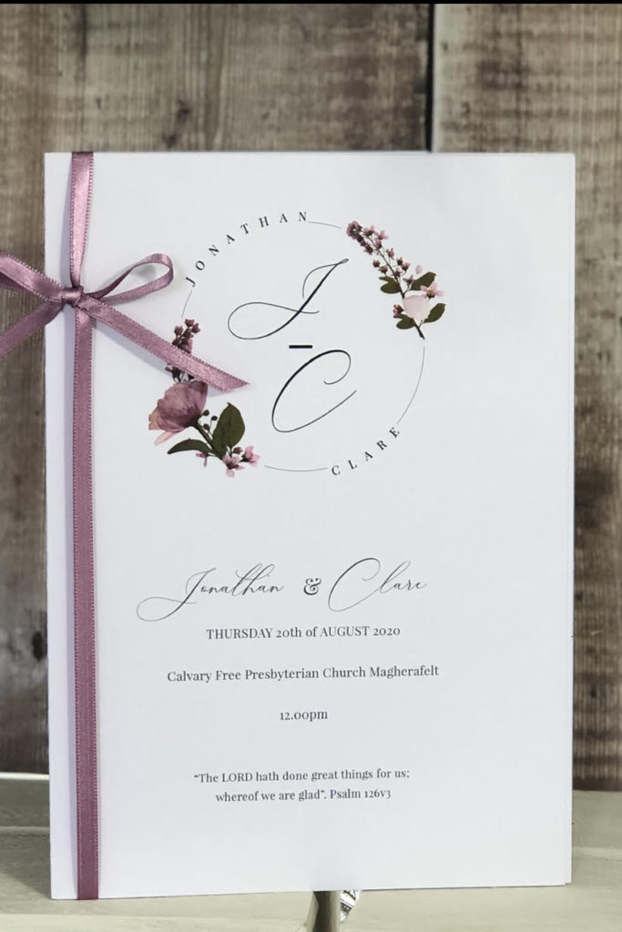 Lilac Flower Order Of Service