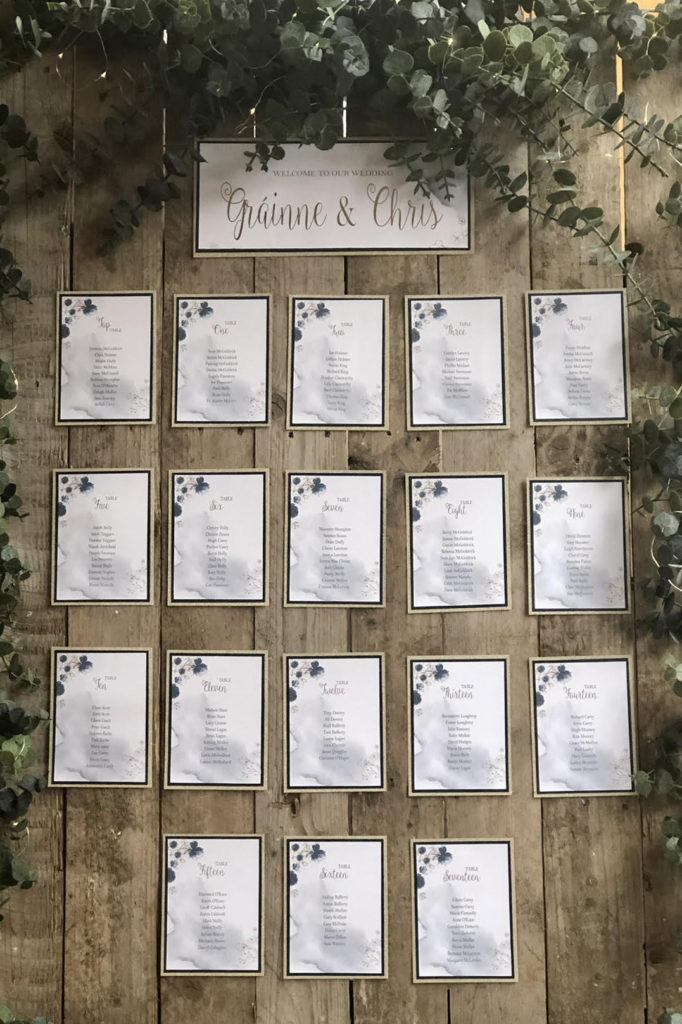 Rustic Palette Table Plan