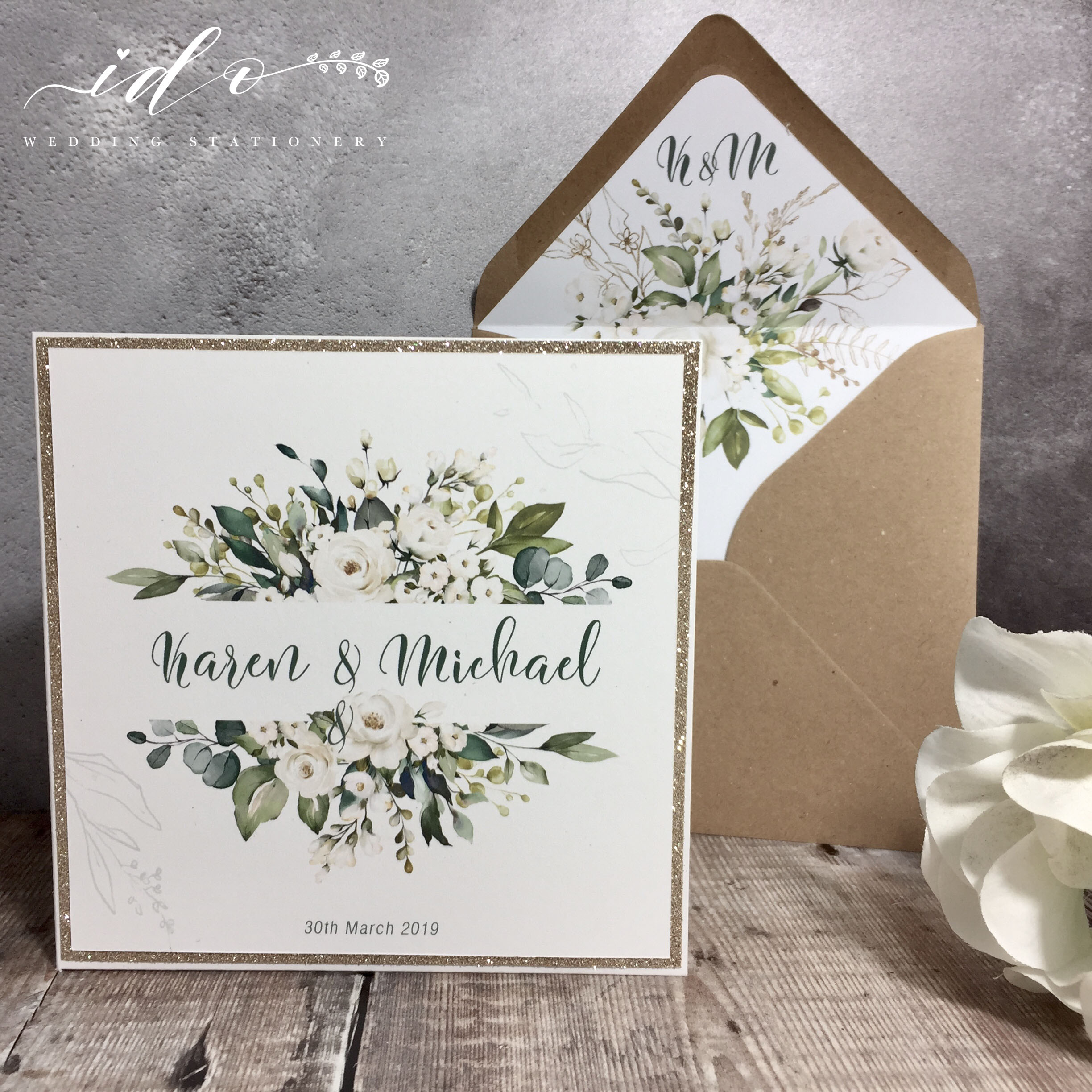 Tara- Foliage Wedding Invitation Package
