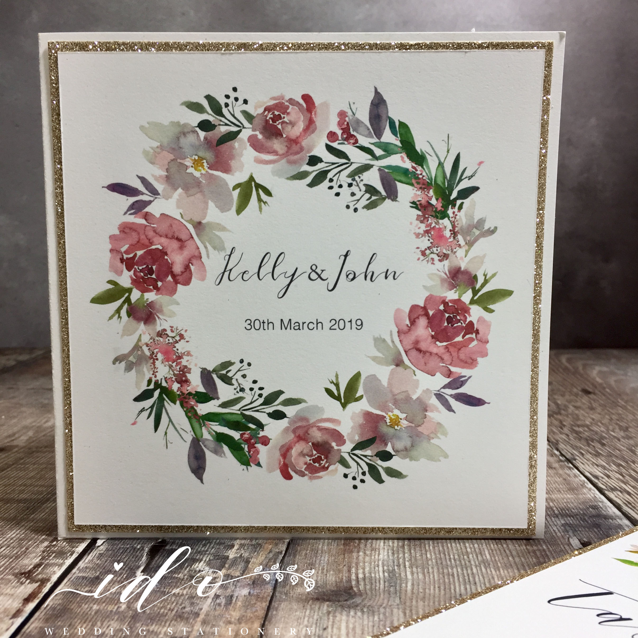 Felicity Floral Wedding Invitation Package