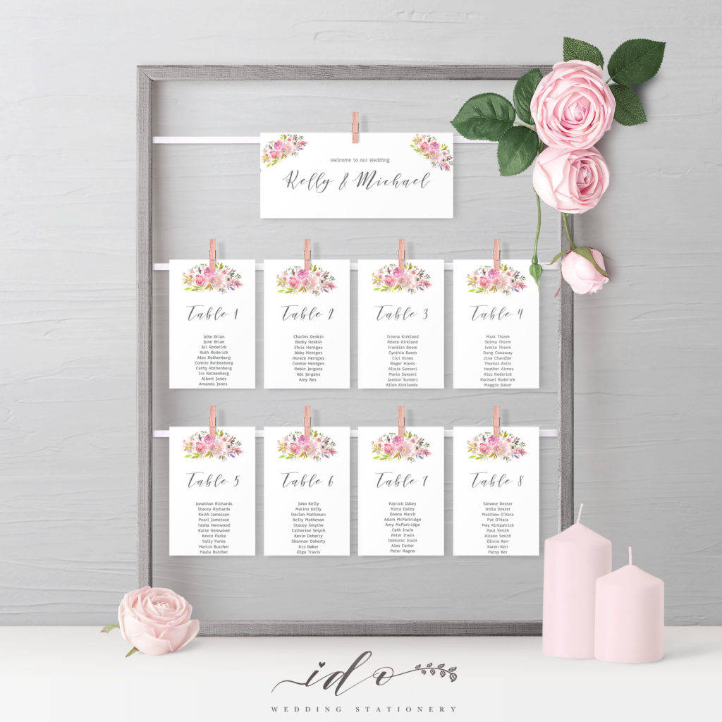 Table Plan Floral