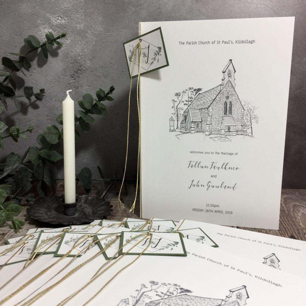 Elegant Gold Foliage Wedding Stationery