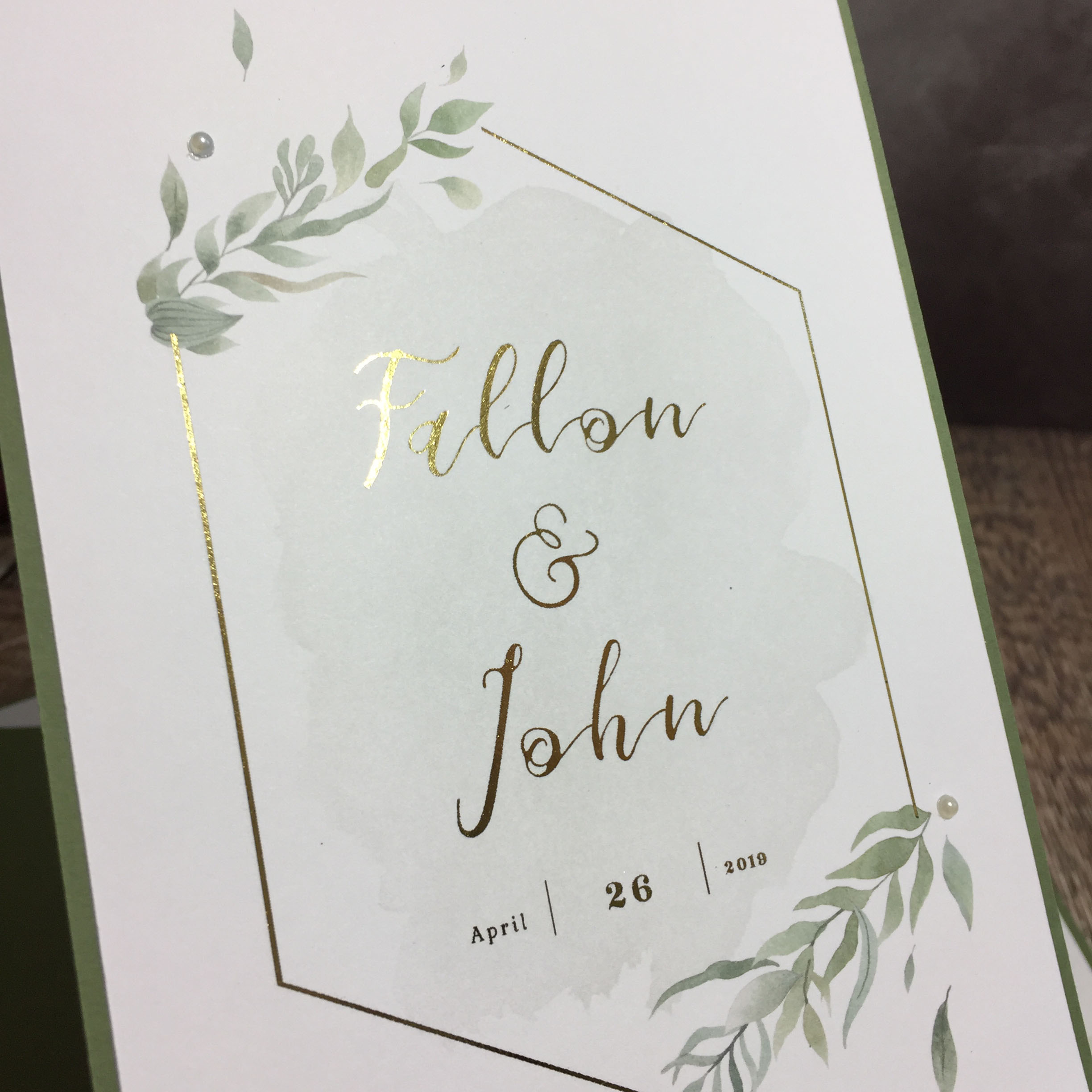 Elegant Gold Foliage Wedding Stationery