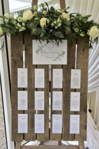 Gold & Foliage Wedding Table Plan