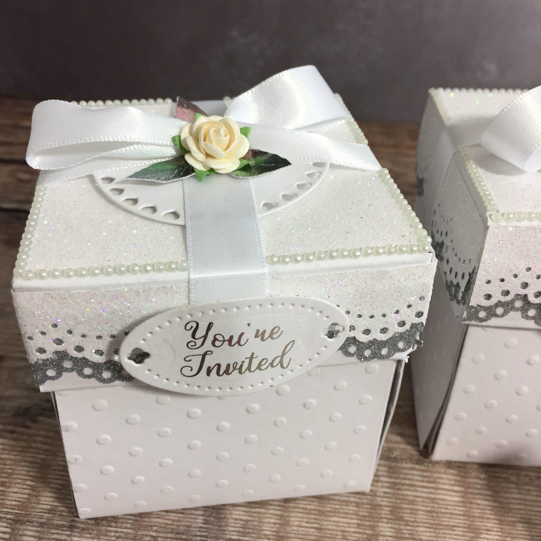 Abbie Exploding box Wedding Invitation
