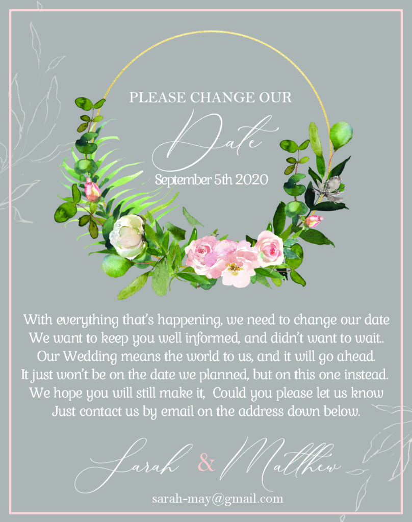 Change our Date Card-Wedding
