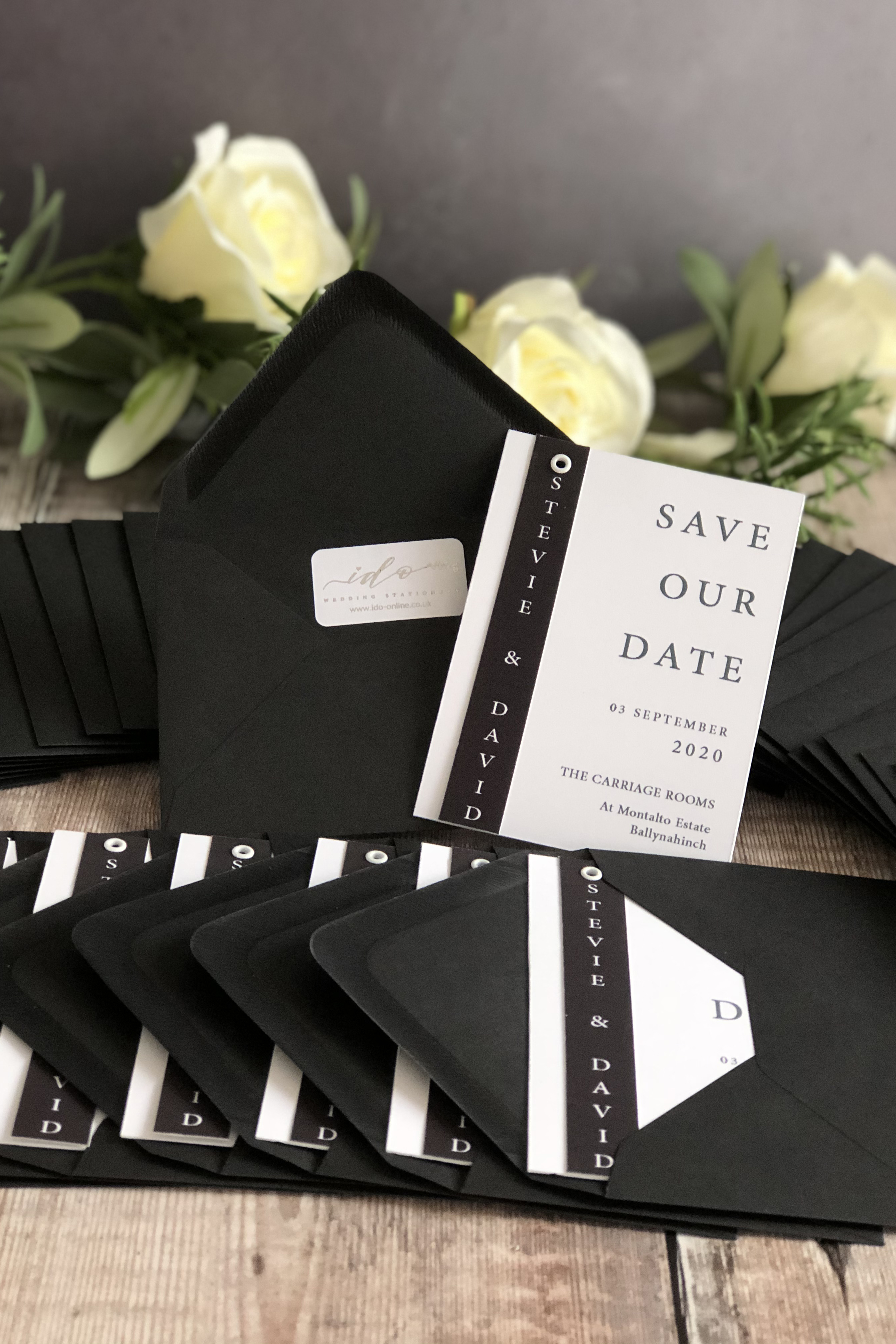 Monochrome Save the Date Cards