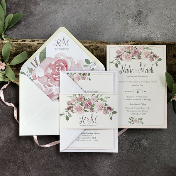 Blush Belle Wedding Invitation