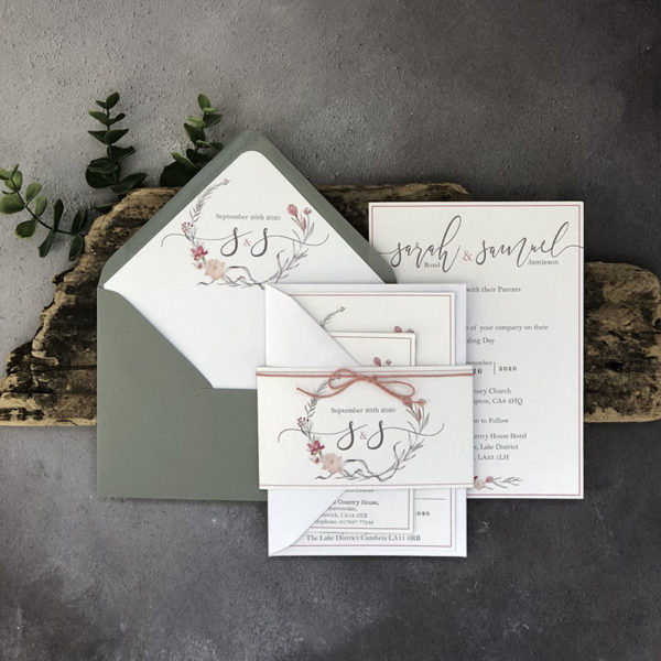 Pretty Subtilis Wedding Invitation