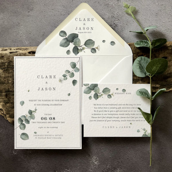 Wild Eucalyptus Evening Invitation