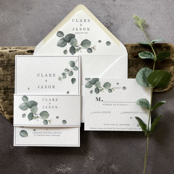 Wild Eucalyptus Wedding Invitation