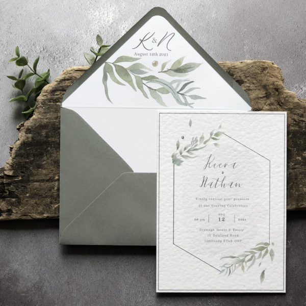 Foliorum Wedding invitation