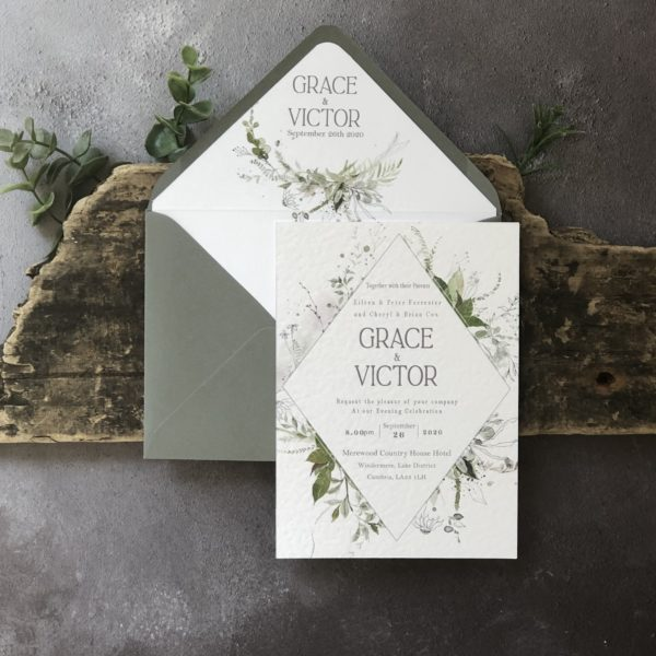 Fresh Viridis Wedding Invitation