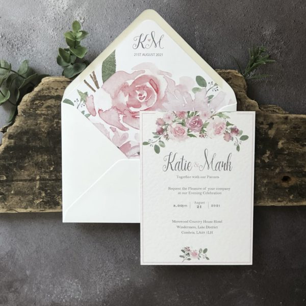 Blush Belle Evening Guest Wedding Invitation