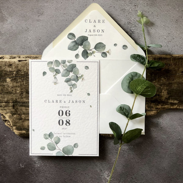 Wild Eucalyptus Save the Date