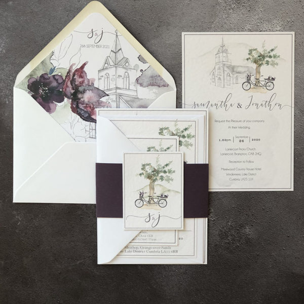 Wild Amaranth Wedding Invitation