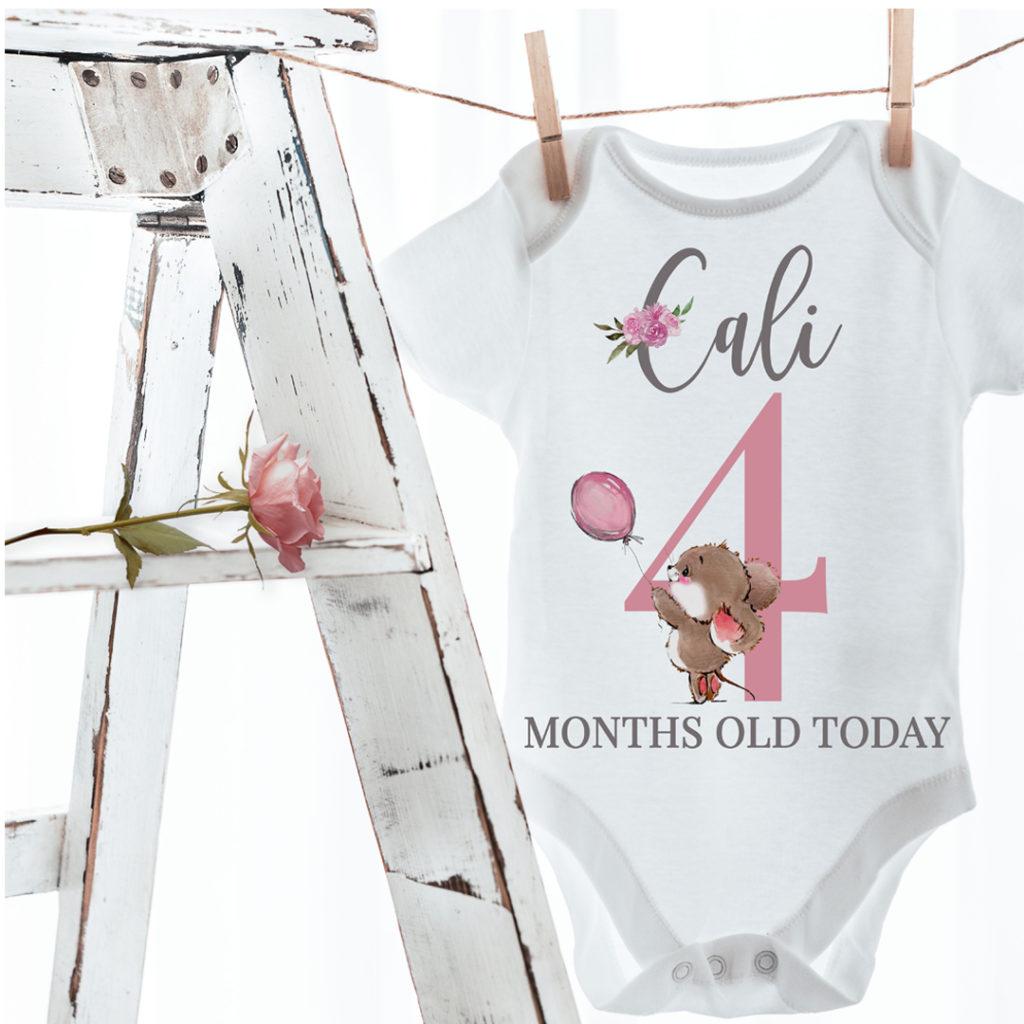 Baby Milestone vests Cali 1