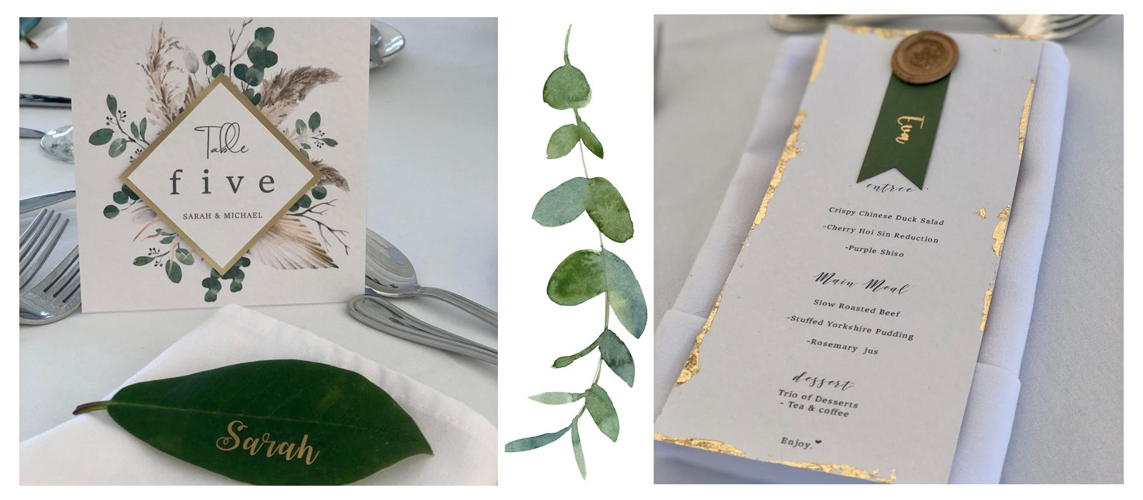 Add some Elegance to your Wedding Tables