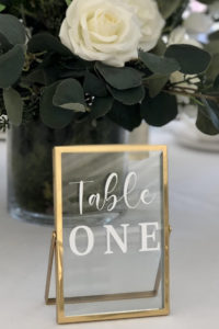 Gold Photo Frame Table Number
