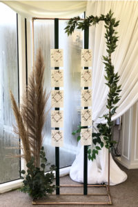 Copper Table Plan with Pampas