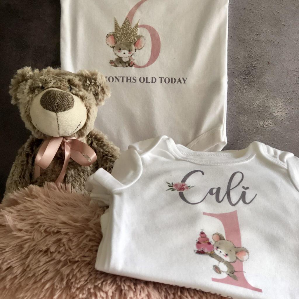 Baby Milestone vest Cali 2