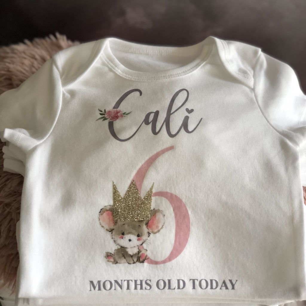 Baby Milestone vest Cali 4