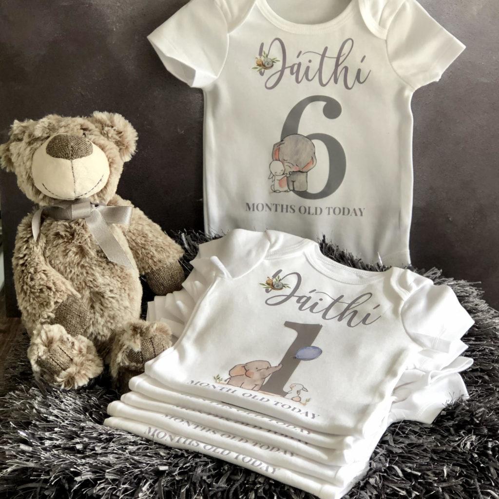 Baby boy milestone vests 5