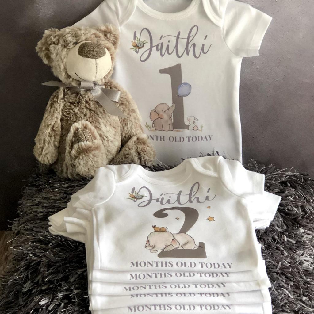 Baby boy milestone vests 2